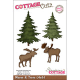 CottageCutz Die Moose and Trees Made Easy 4inx6in