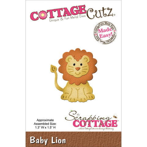 CottageCutz Die Baby Lion