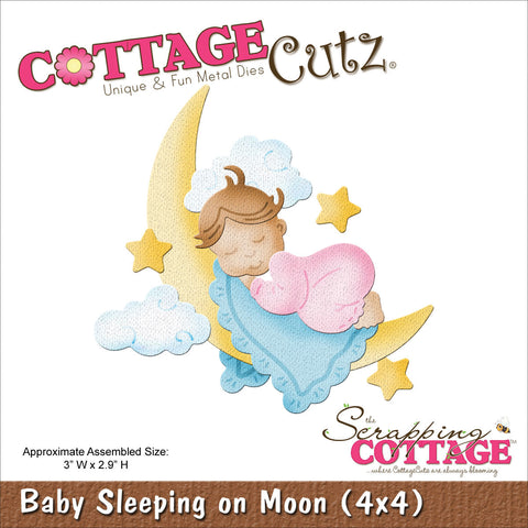 CottageCutz Die Baby Sleeping On Moon