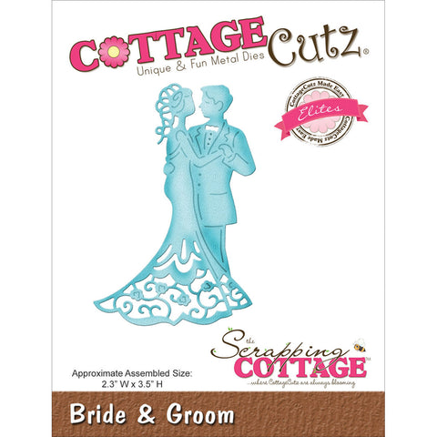 CottageCutz Elites Die - Bride & Groom