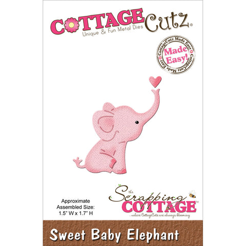 CottageCutz Mini Die Sweet Baby Elephant