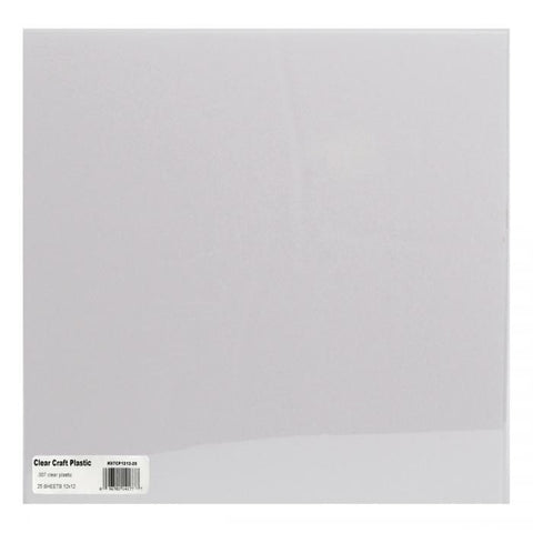 Clear Craft Plastic Sheets .007 12inx12in 25pk