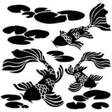 The Crafter's Workshop Template Koi Pond 12inx12in
