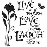 The Crafter's Workshop Template Live Love and Laugh 6inx6in