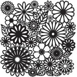 The Crafter's Workshop Template Flower Frenzy 12inx12in