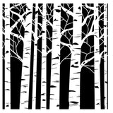 The Crafter's Workshop Template Aspen Trees 6inx6in