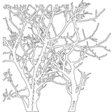 The Crafter's Workshop Template Branches 6inx6in