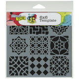The Crafter's Workshop Template Moroccan Tiles 6inx6in