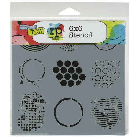 The Crafter's Workshop Template Well Rounded 6inx6in