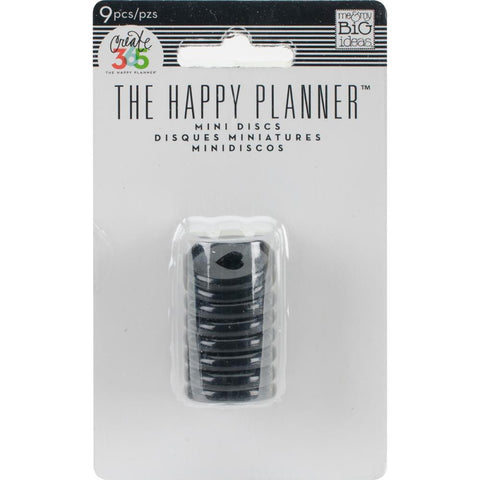 Create 365 Happy Planner Expander Rings Black .75in
