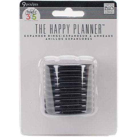 Create 365 Happy Planner Planner Expander Rings Black
