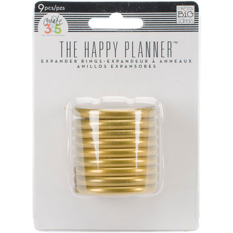 Create 365 Happy Planner Planner Expander Rings Gold