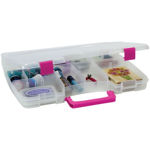 Creative Options Pro Latch Connectable Satchel Clear Magenta