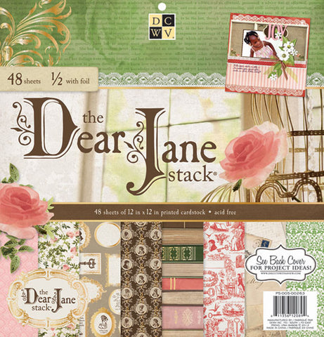 "Diecuts With A View Dear Jane Paper Stack 12""x12"""