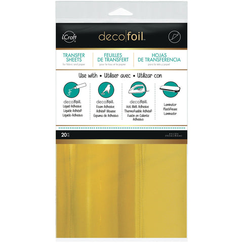 Deco Foil Transfer Sheet Gold 6inx12in