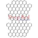 Deep Red Stamp Chicken Wire Background 2inx3in