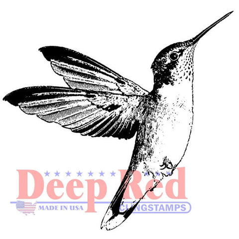 Deep Red Cling Stamp Hummingbird