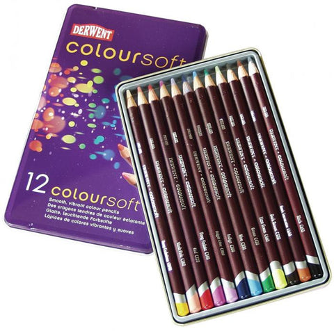 Derwent Coloursoft Pencil 12pk