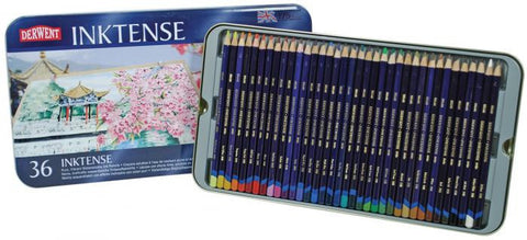 Derwent Inktense Watersoluble Ink Pencils 36pk
