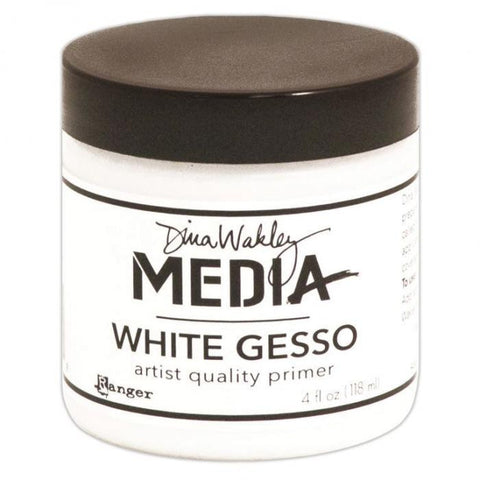 Dina Wakley Media Gesso Jar White 4oz