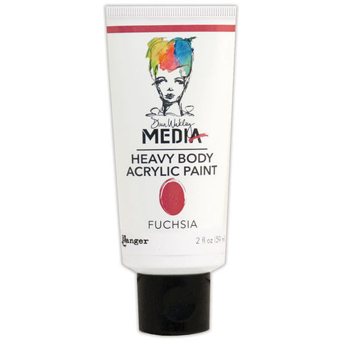 Dina Wakley Media Heavy Body Acrylic Paint Fuchsia