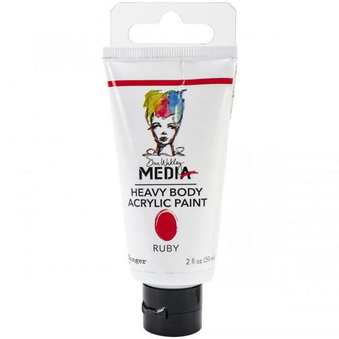 Dina Wakley Media Heavy Body Acrylic Paints Ruby