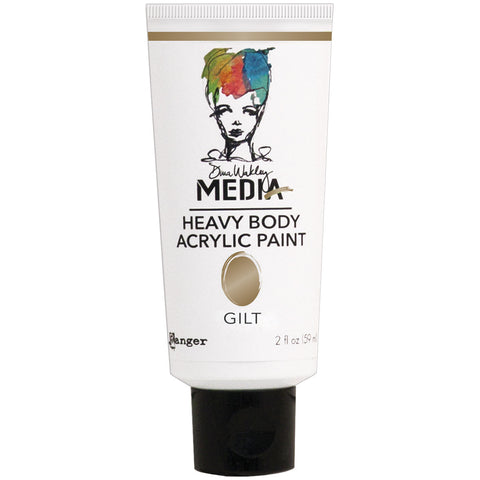 Dina Wakley Media Heavy Body Metallic Acrylic Paints Gilt