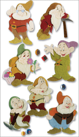 Jolee's Disney Dimensional Stickers Snow White The Seven Dwarves