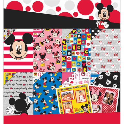 Disney Paper Pad 12inx12in Mickey and Friends