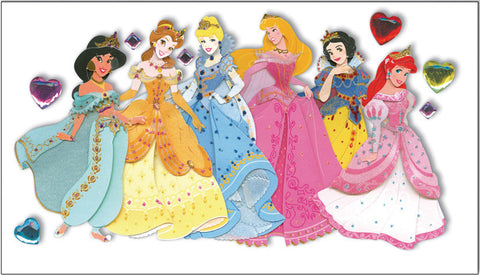 Jolee's Disney Dimensional Stickers Multiple Princesses