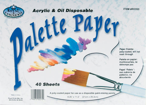 Disposable Palette Paper For Acrylic and Oil 8.25inx11.5in