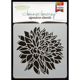Donna Downey Signature Stencils Big Peony Blossom 8.5inx8.5in