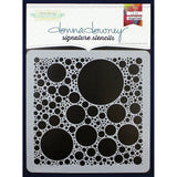 Donna Downey Signature Stencils Bubbles 8.5inx8.5in