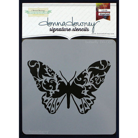 Donna Downey Signature Stencils Butterfly 8.5inx8.5in