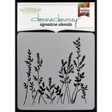 Donna Downey Signature Stencils Grass 8.5inx8.5in