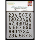 "Donna Downey Signature Stencils 8.5""x8.5"" - Numbers Repeat"