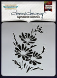 Donna Downey Signature Stencils Painted Flowers 8.5inx8.5in