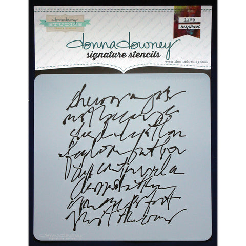 Donna Downey Signature Stencils Scribble Script 8.5inx8.5in