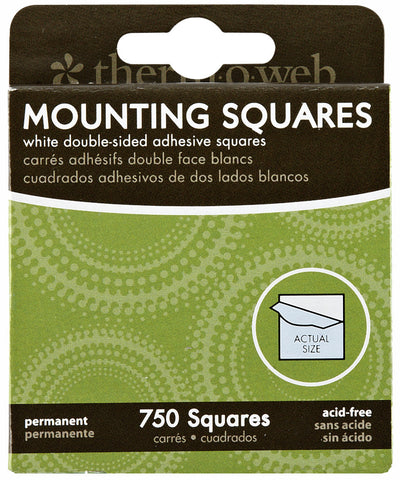Doublesided Adhesive Mounting Squares White .5in