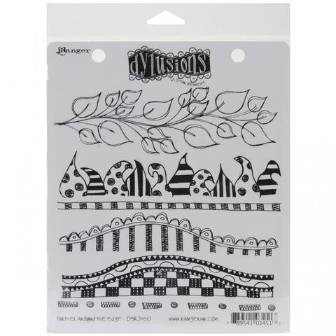 Dylusions by Dyan Reaveley Cling Stamps Further Around The Edge