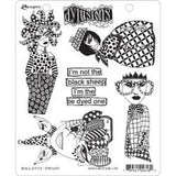 Dylusions by Dyan Reaveley Cling Stamp Collection Black Sheep