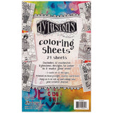 Dyan Reaveley's Dylusions Coloring Sheets 5inx8in