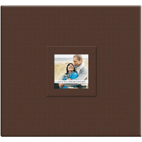 Earthtone Post Bound Scrapbook with Window Branch 12inx12in