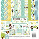 Echo Park Collection Kit Bundle Of Joy A New Addition Baby Boy 12inx12in