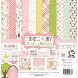 Echo Park Collection Kit Bundle of Joy A New Addition Baby Girl 12inx12in