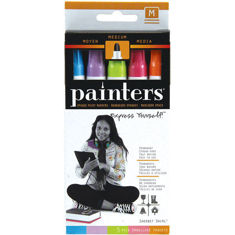 Elmer's Painters Opaque Paint Markers Medium Point Sherbet Swirl