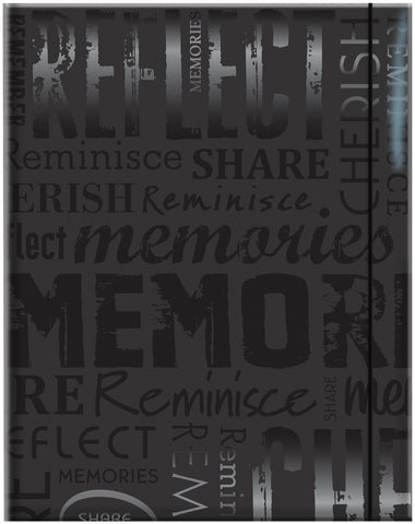 Embossed Gloss Expressions Photo Album Memories Black 4.75inx6.5in