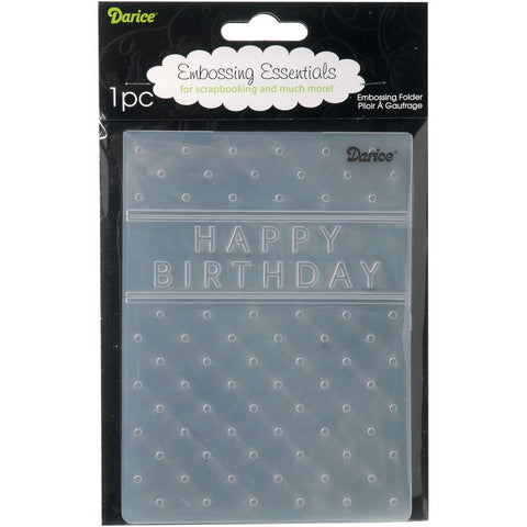 Embossing Folder Happy Birthday 4.25inx5.75in