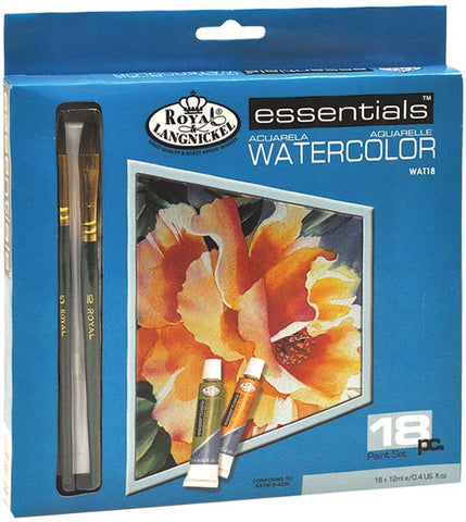 Essentials Watercolor Paint Set 18pk