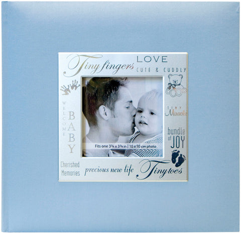 MBI Fabric Expressions Photo Album Baby Blue 8.5inx8.5in